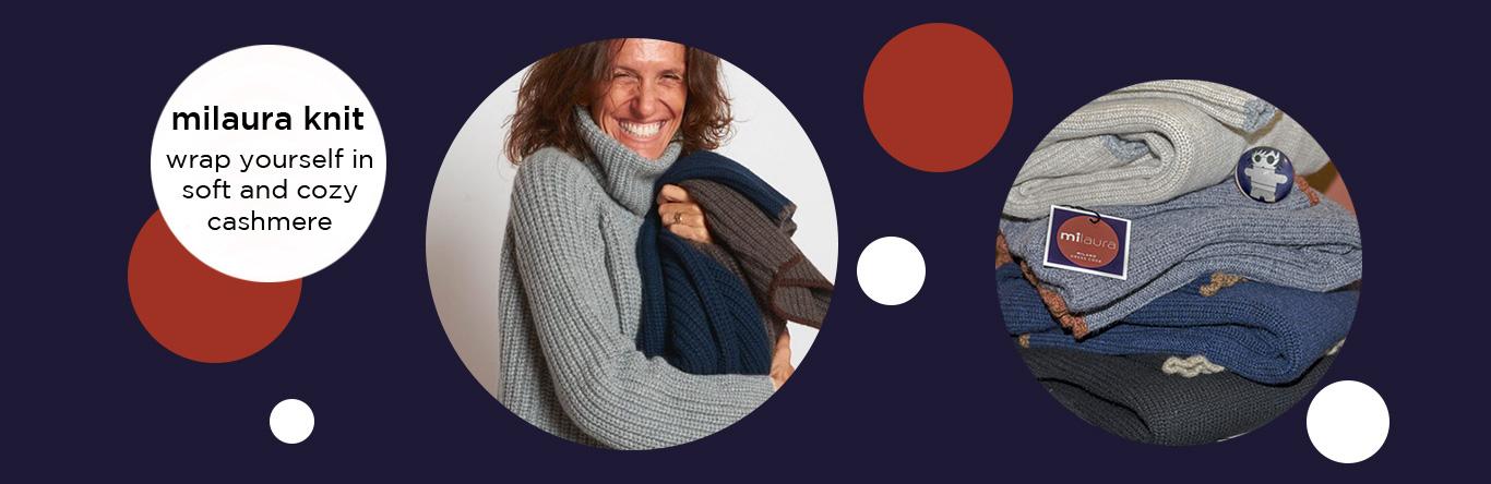 Banner milaura knit blu