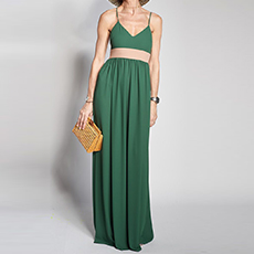 Long dress with band
