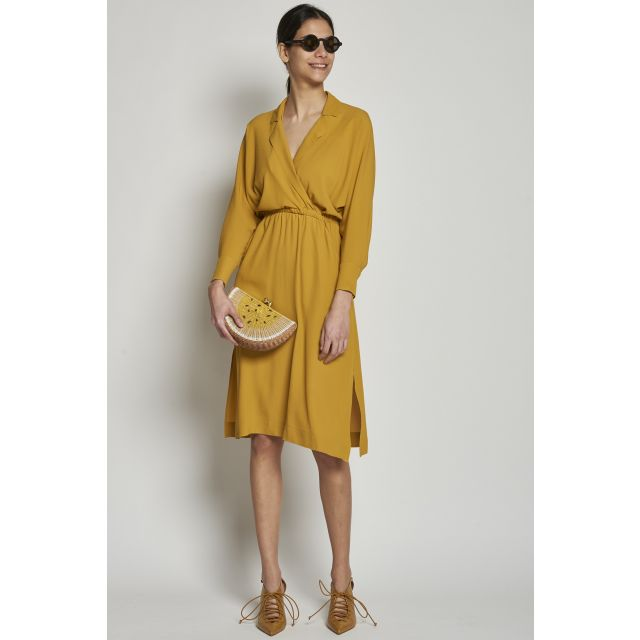 Mustard dress with elastic