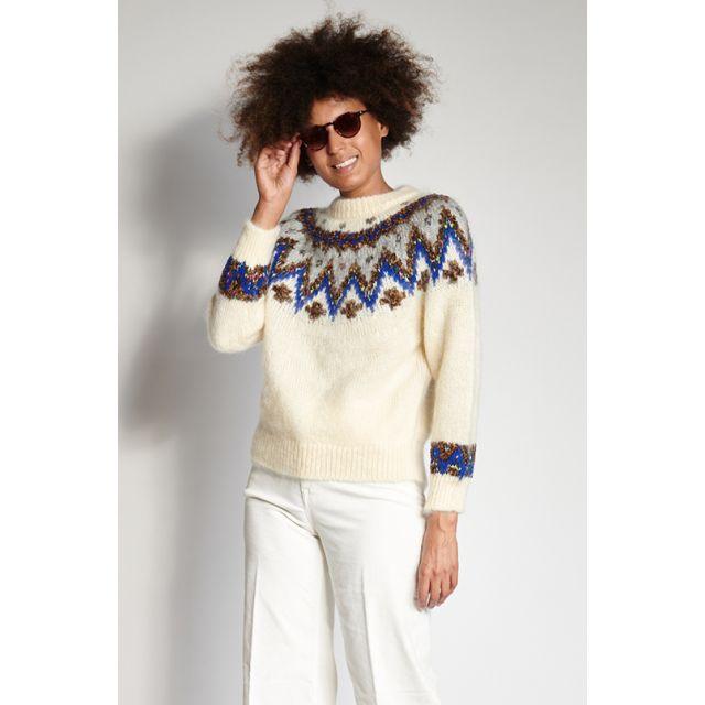 Maglione bianco con decori