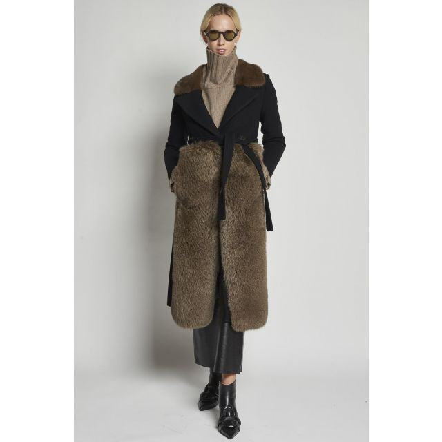 black fur with mink collar and fox insert