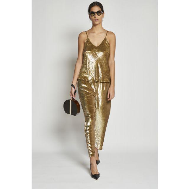 pantalone lungo oro
