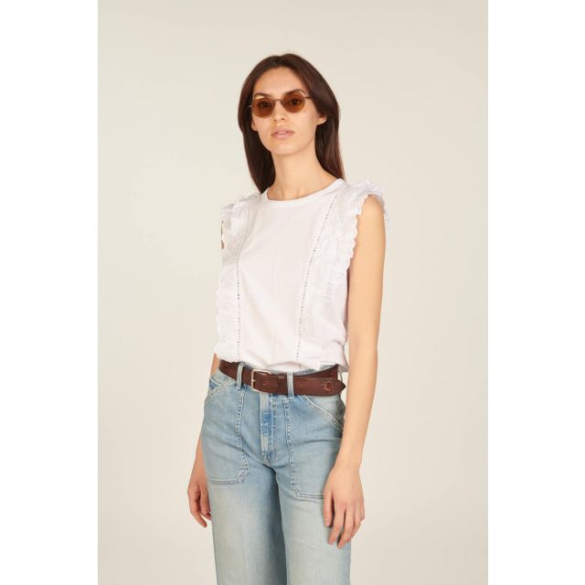 White sleeveless Audre top