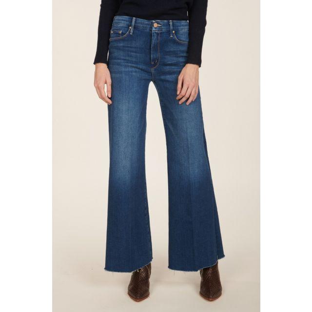 Roller denim trousers