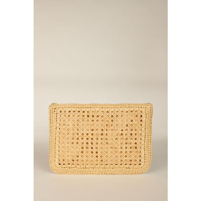 Natural Rafia Clutch