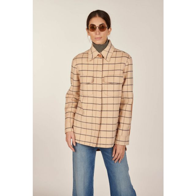 Giacca camicia double check