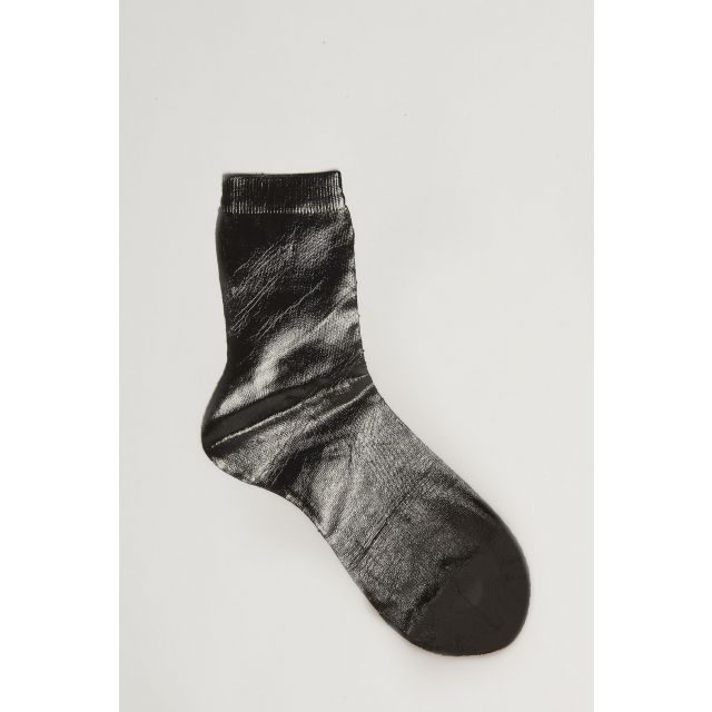 black with metallic effect socks