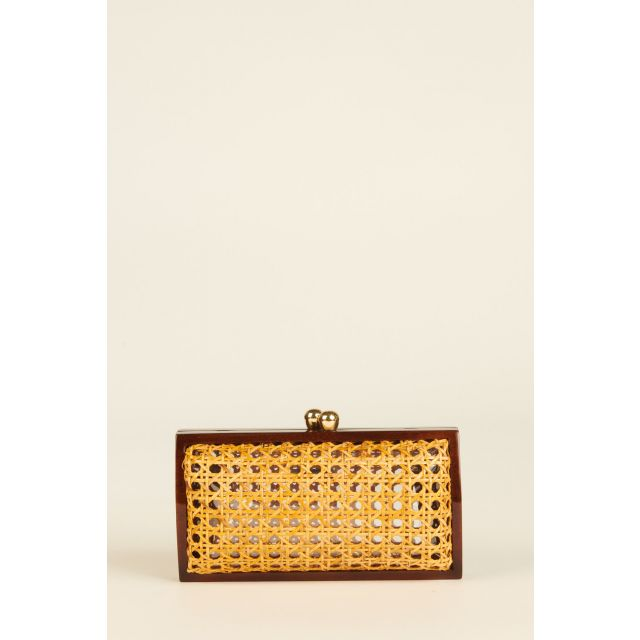 Farah clutch with brown edges