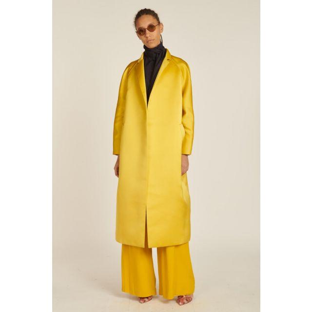 cappotto lungo raso