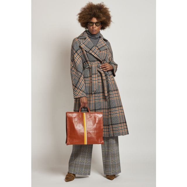 galles trench coat with orange details