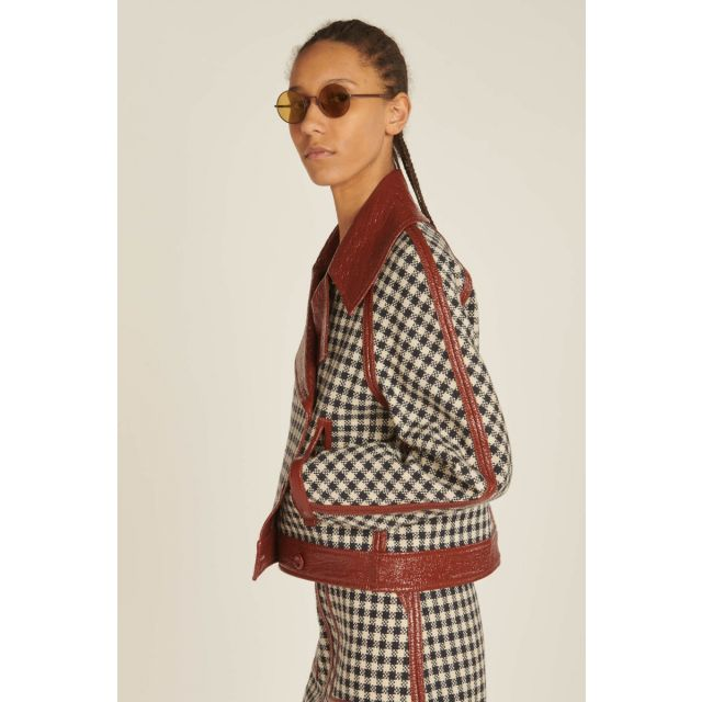reversible houndstooth jacket
