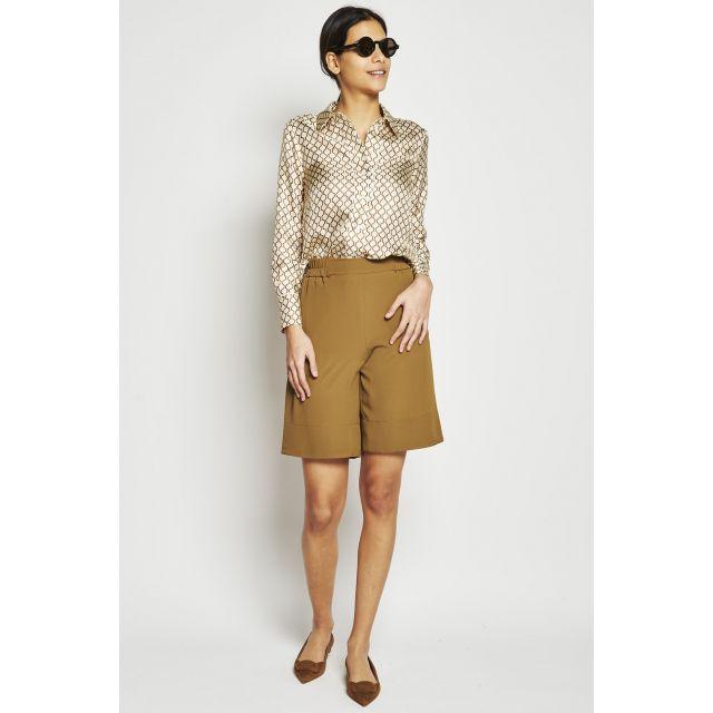 geometrical print silk blouse