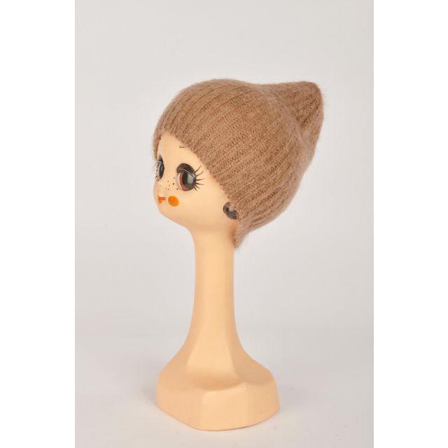 Cappello beige in mohair