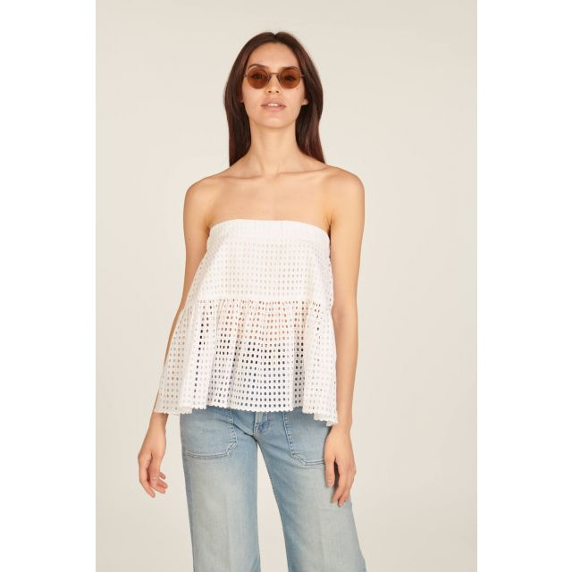 Broderie anglaise white top
