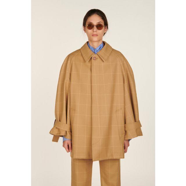 Giacca a quadri in lana