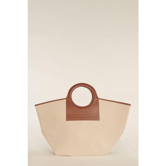Large Cala bag with brown profiles