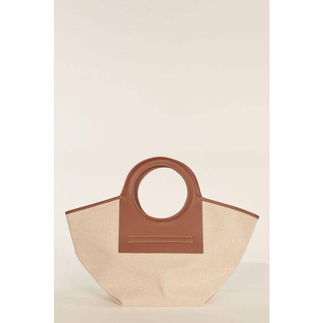 Medium Cala bag with brown profiles
