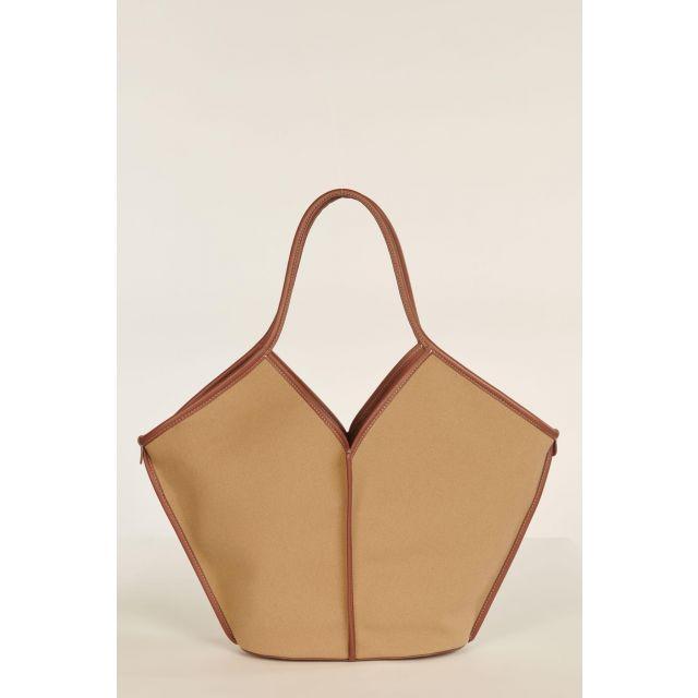 Camel and brown Calella bag