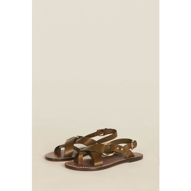 Green Florence sandals