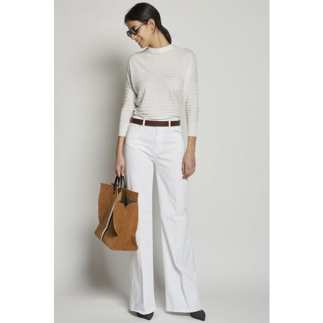 Long white trousers