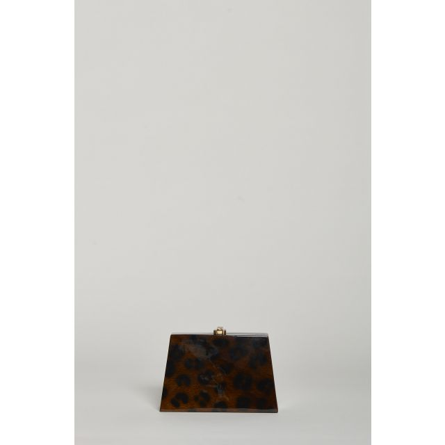 Wooden animalier clutch