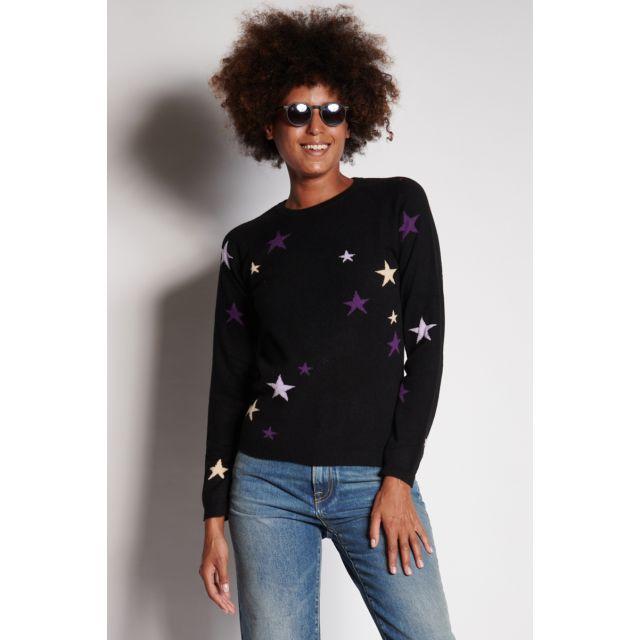Maglione nero con stelle