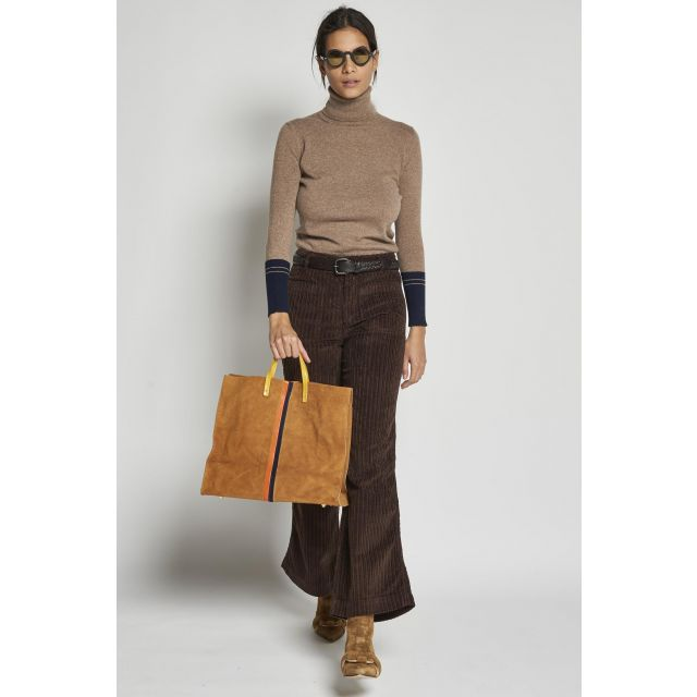 brown velvet trousers with pockets