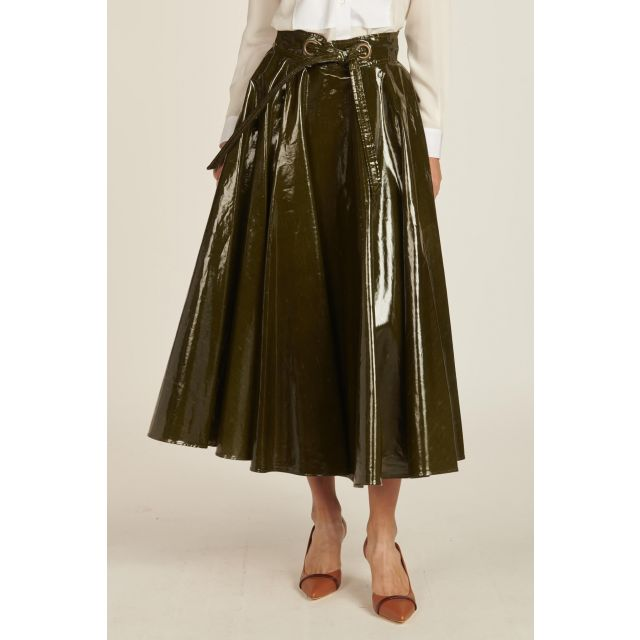 Patent Leather A-line Skirt