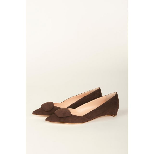 Ballerina Aga in suede leather