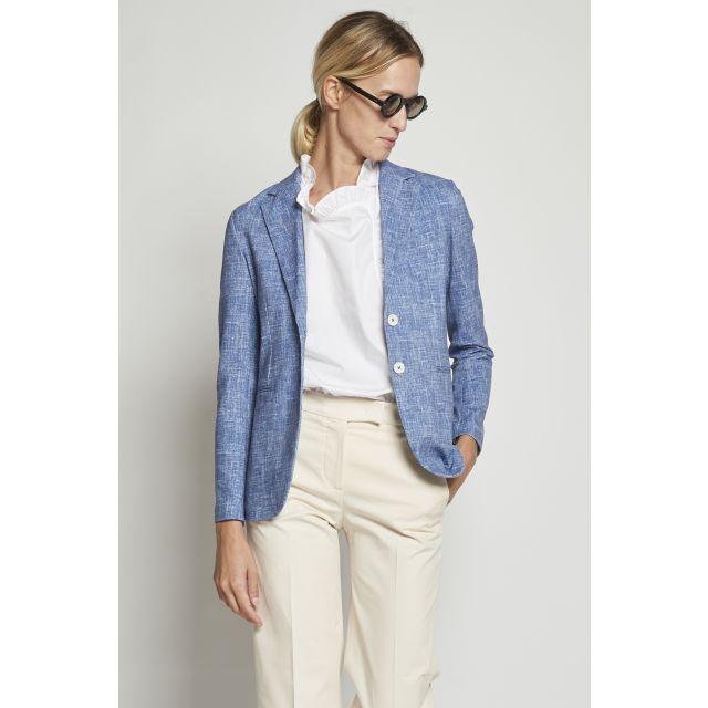 Melange blue cotton jacket