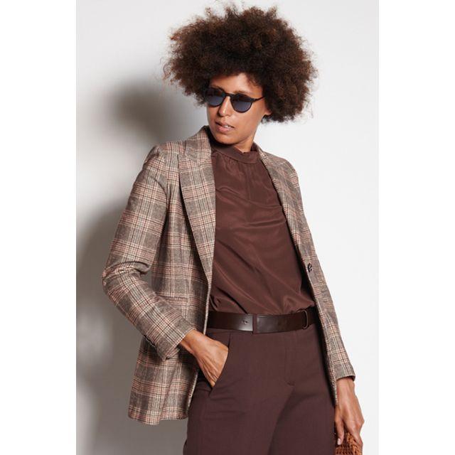 Brown and beige wales jacket