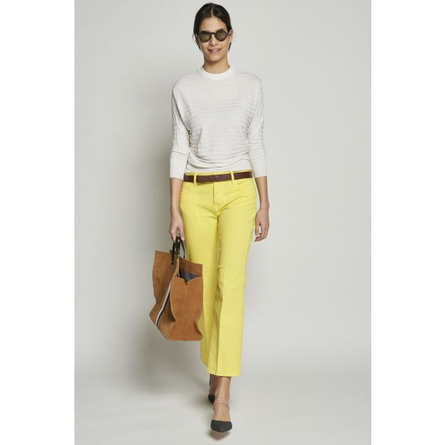 Yellow tight trumpet trousers