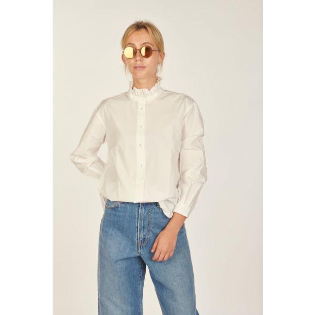 Camicia Greta con colletto con volants