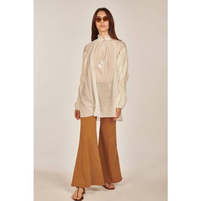 Camicia lunga bianca