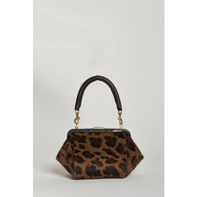 borsa mini in stampa leopardo