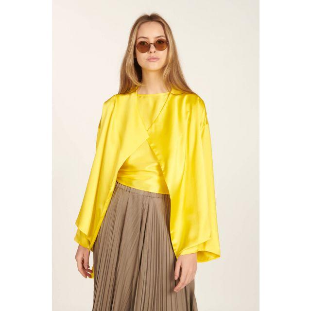 Giacca Coprispalle Sunny di raso giallo