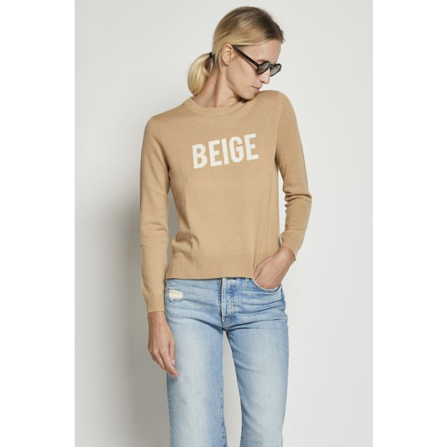 Beige cashmere wool sweater