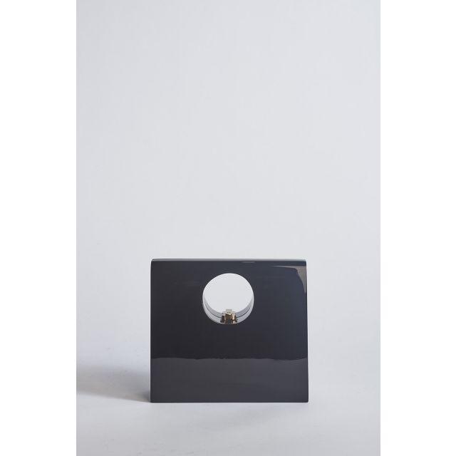 Black wooden clutch