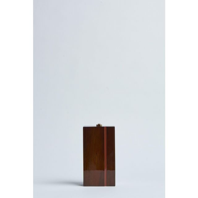 brown bag in lacquered wood