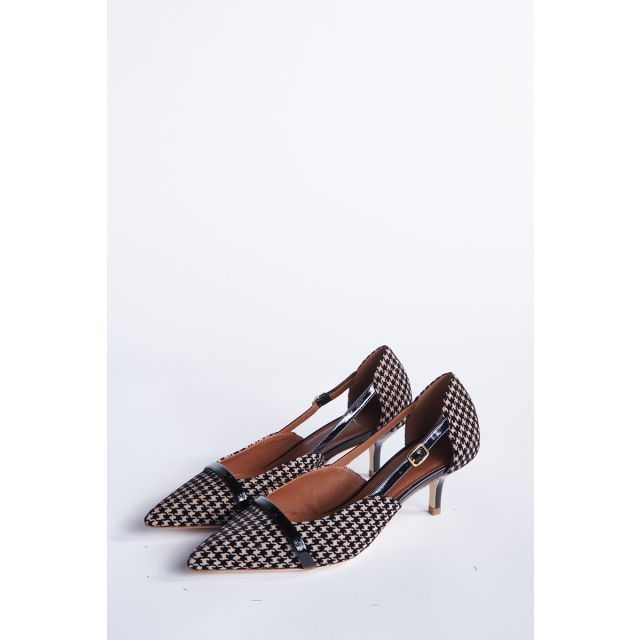 Decollete houndstooth