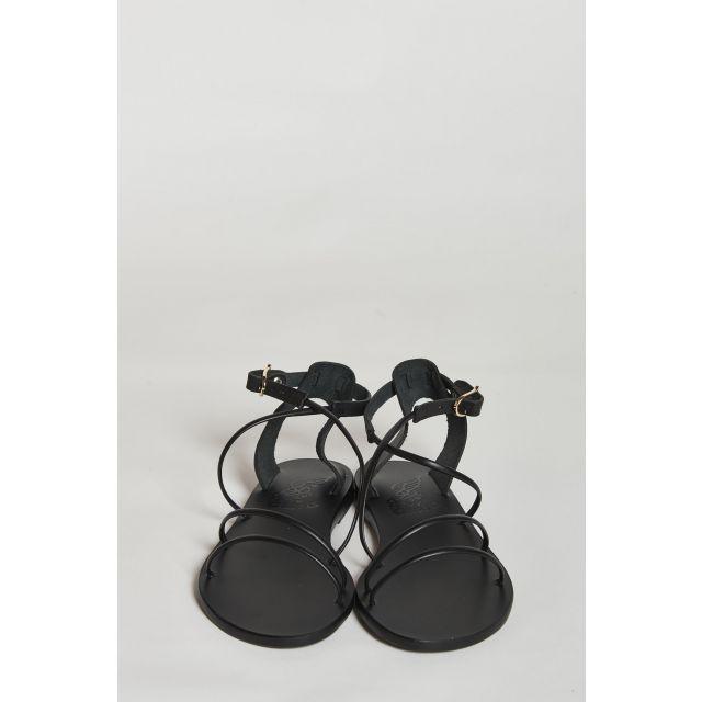 sandalo nero con fascette sottili