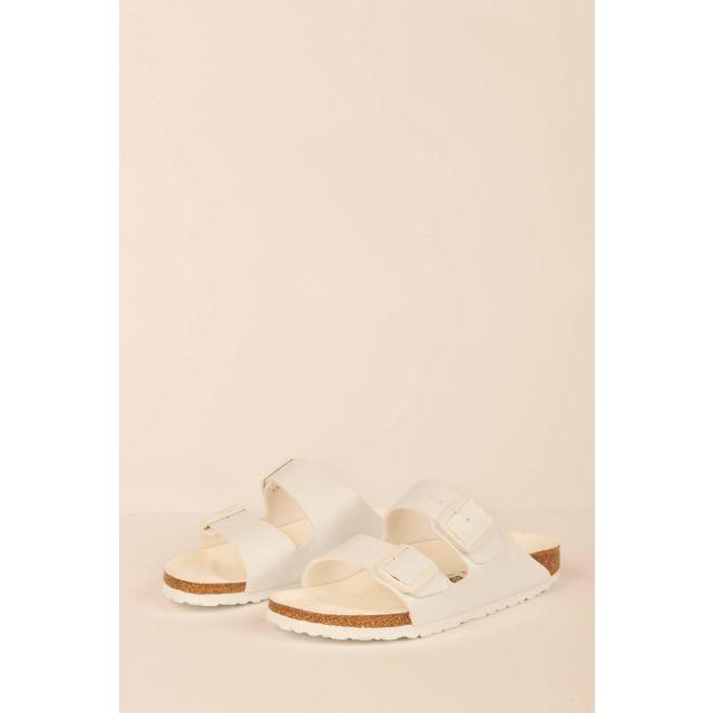 White Arizona sandals