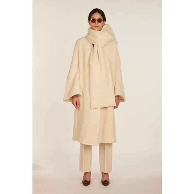 Cappotto lungo bianco Clio
