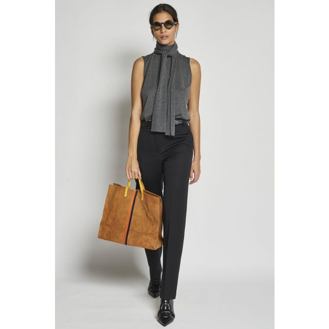 long black wool trousers