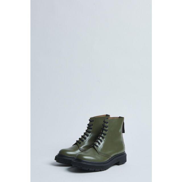 scarponcino alto stringato verde