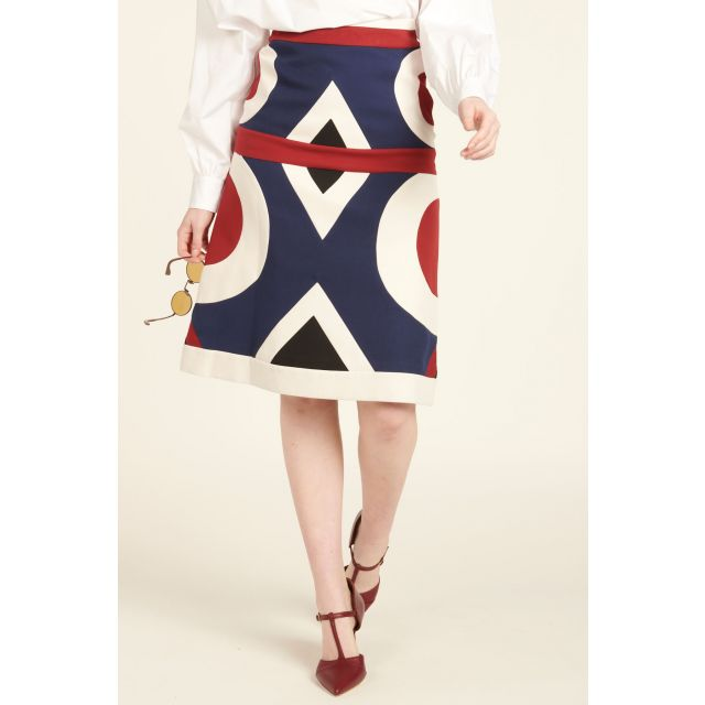 MIdi Geometric Skirt