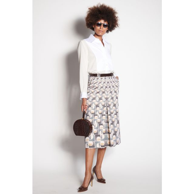 Soft skirt with print