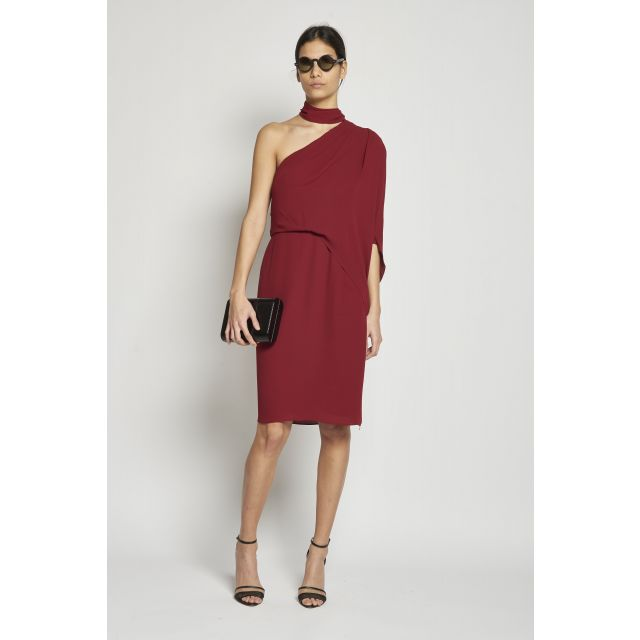 voile one-sleeve dress