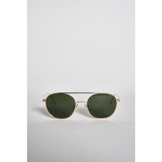 Shanghai III Shiny Gold metal sunglasses