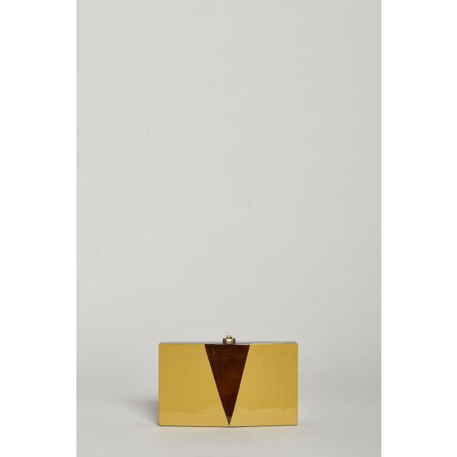 rocio Clutch rettangolare in legno